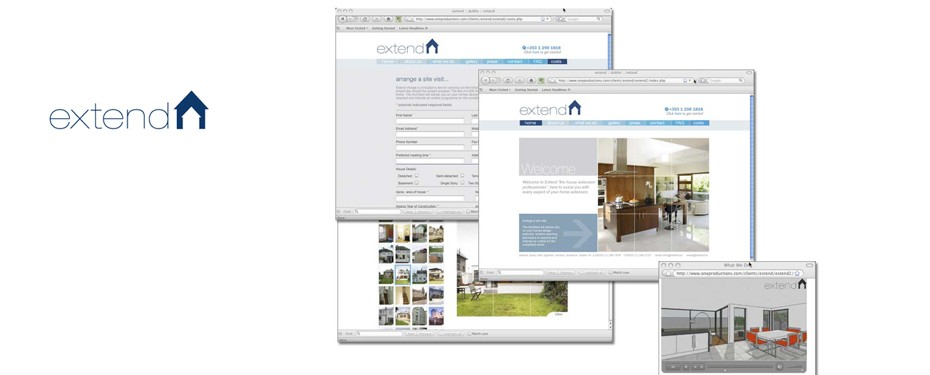 One Productions created the web design and online marketing for Extend Architects.