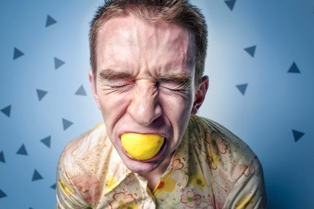 You can make viral videos by filming people's reactions to certain situations such as this guy chomping down on a zesty lemon.
