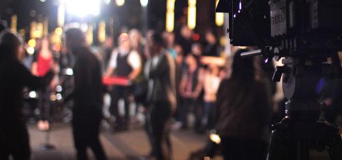 video production dublin on set